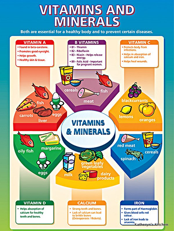 Katheryn's Kitchen – Vitamins and Minerals