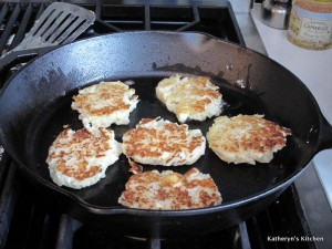 Golden Brown Cauliflower Feta Fritters