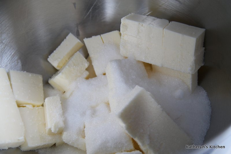 Cut up Butter and Sugar