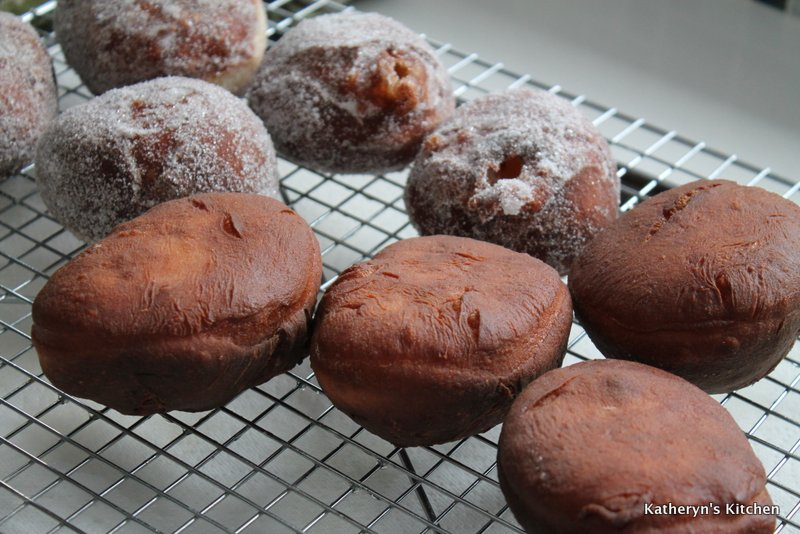 Fried Doughnuts Cooling