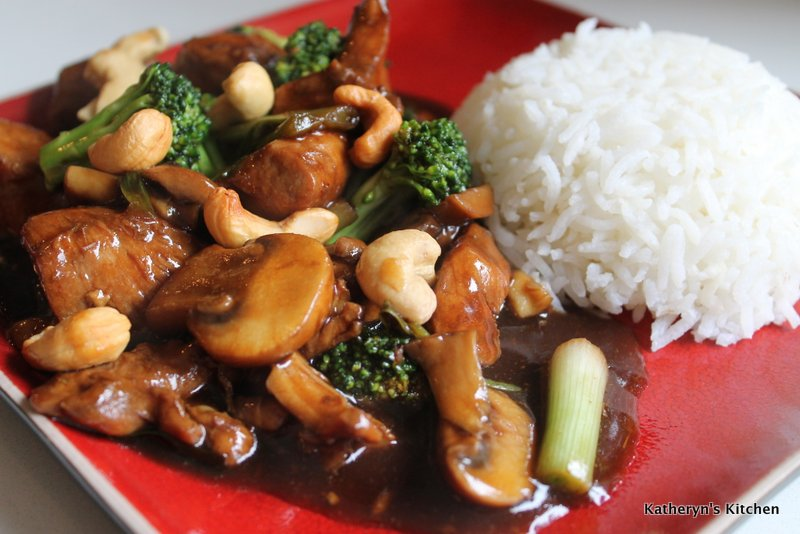 Asian Cashew Chicken Stir Fry
