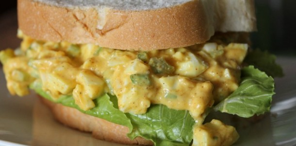 Home » Recipes » Appetizers » Curried Egg Salad with Mango Chutney