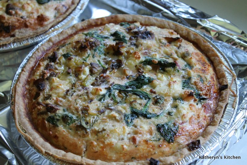 Quiche just out of the Oven