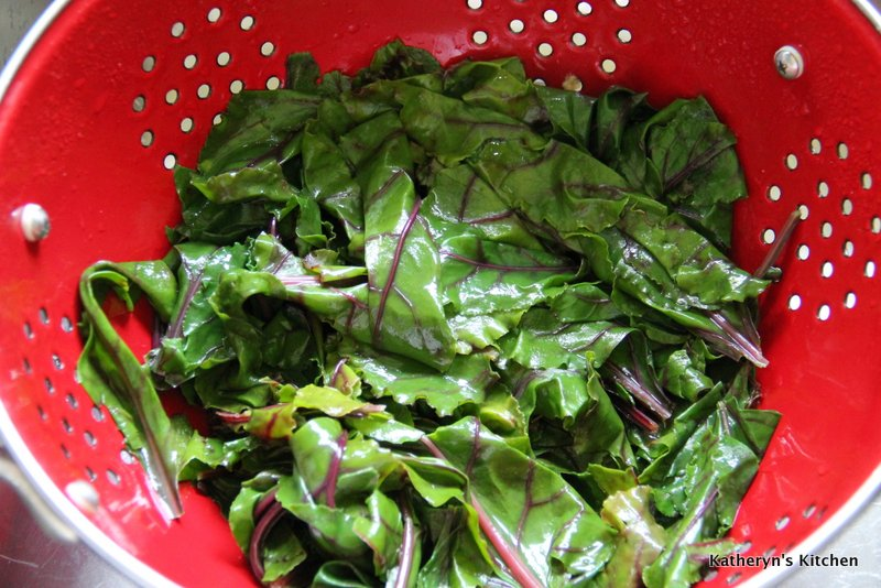 Blanched Beet Greens