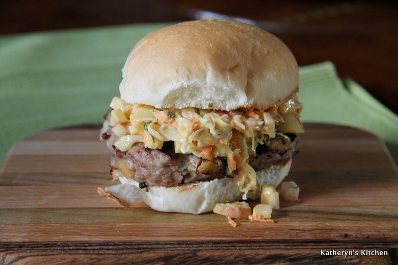 Turkey Burger with Apple Slaw