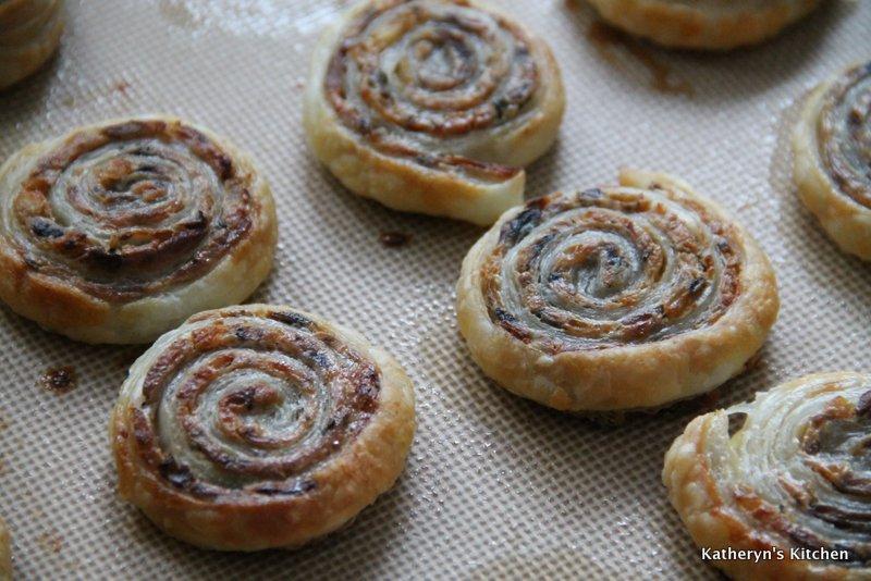 Baked Herb Mushroom Cheese Pinwheels