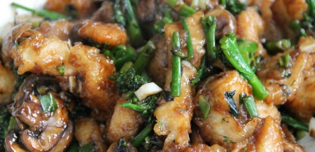 Crispy Stir-Fried Chicken With Broccolini