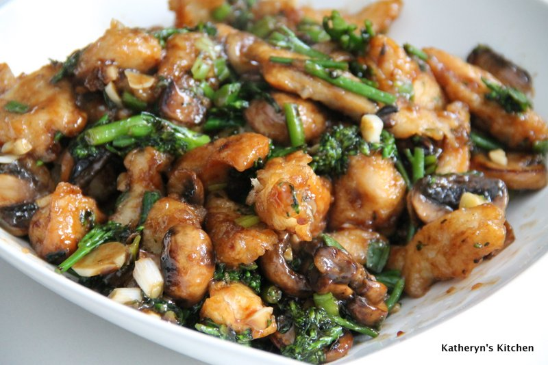 Crispy Stir Fried Chicken with Broccolini