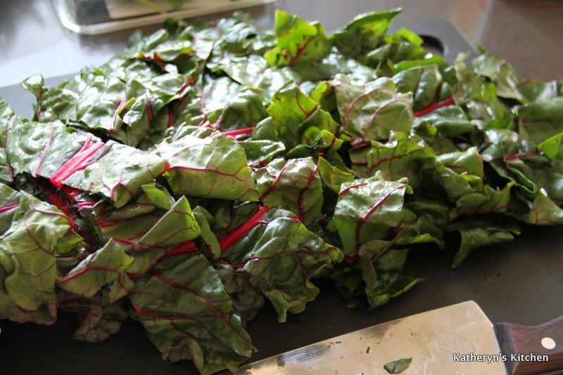 Chopping Swiss Chard