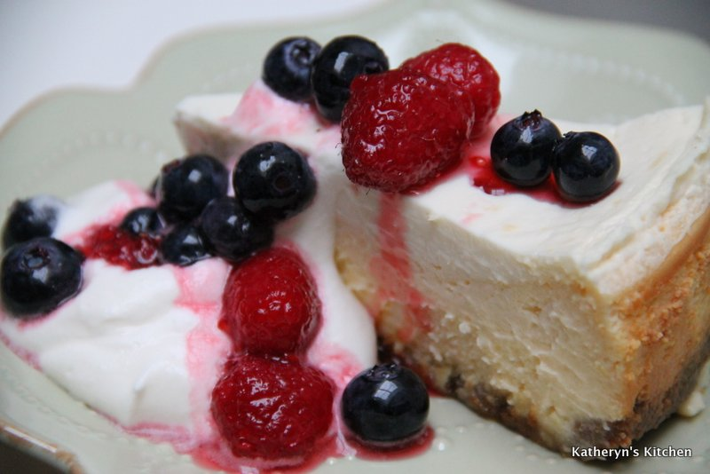 Lemon Cheesecake with Berry Topping