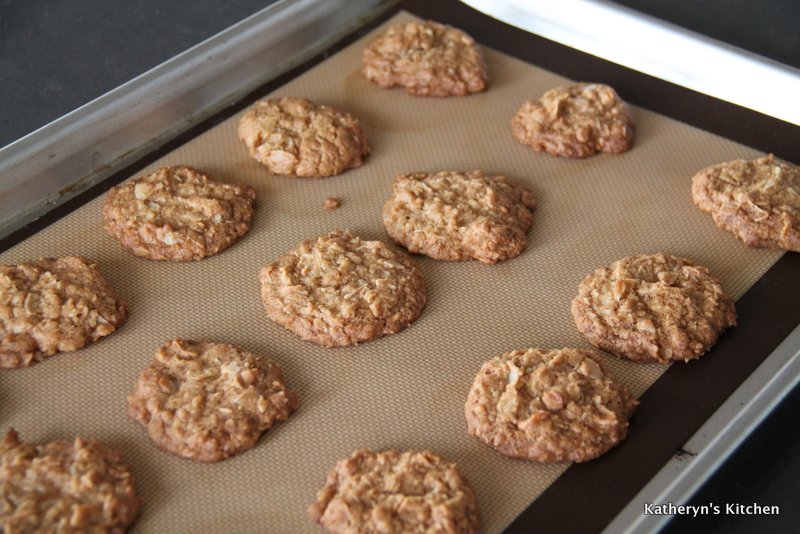 Coconut Brown Butter Cookies just Out of the Oven