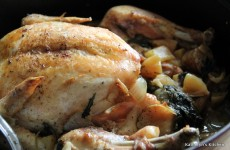Braised Chicken with Apple and Italian Sausage