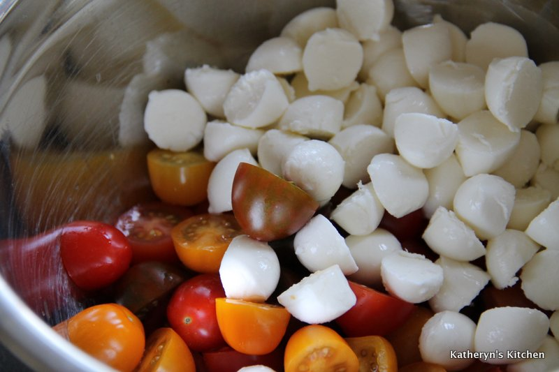 Halved Cherry Tomatoes and Baby Bocconcini