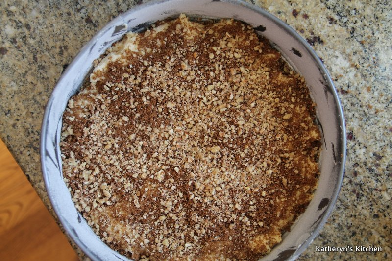 First layer of Pecan Topping