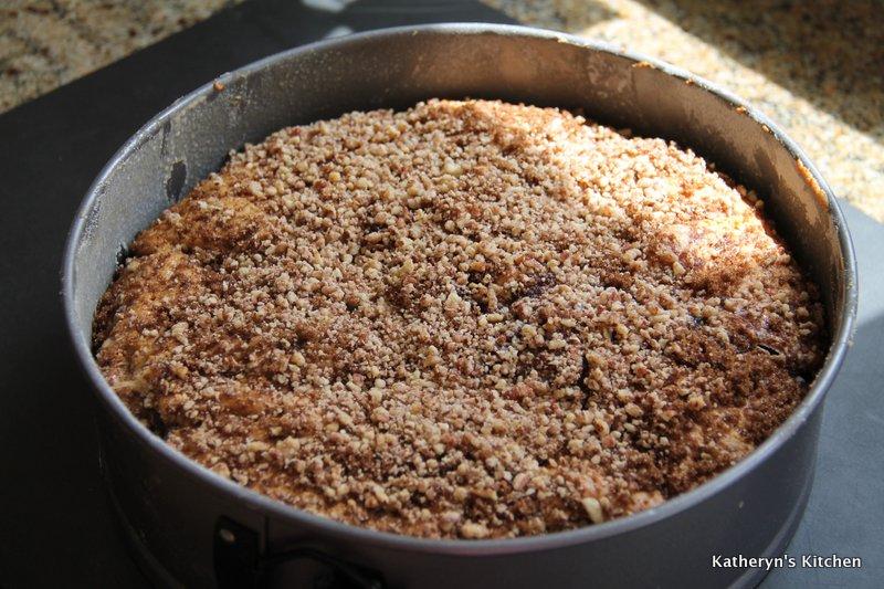 Baked Sour Cream Pecan Coffee Cake