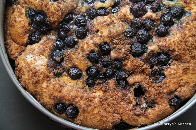 Baked Blueberry Sour Cream Coffee Cake