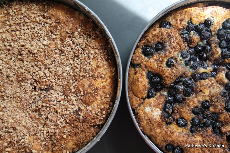 Blueberry and Pecan Coffee Cake