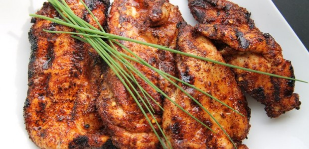 Spicy Honey Brushed Chicken Breasts